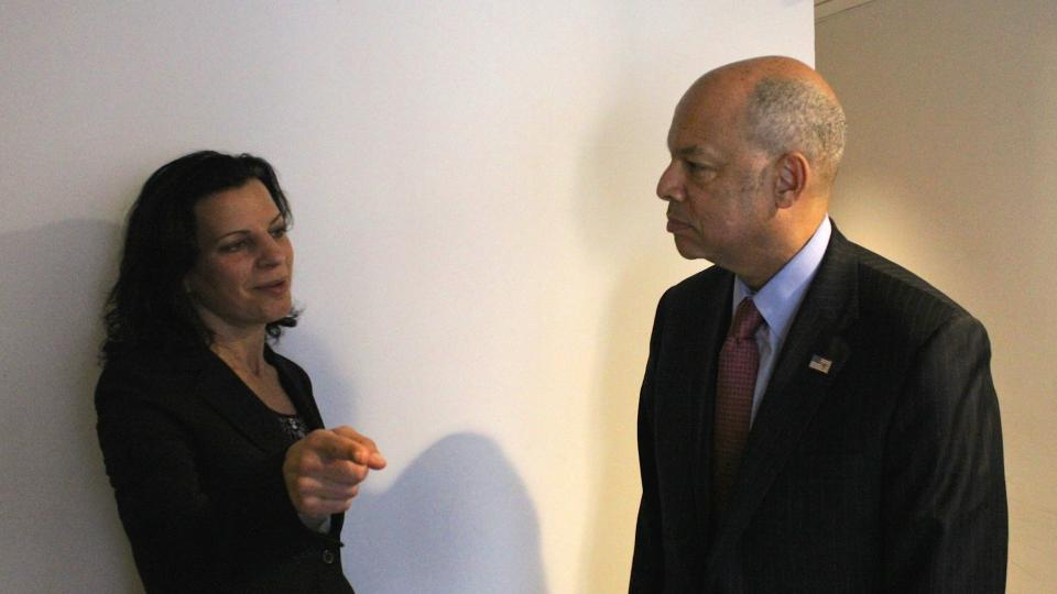 Juliette Kayyem and Secretary of Homeland Security, Jeh Johnson